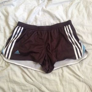 Adidas Miteam Stripe Printed Split Shorts